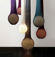 Gestrickte Lampenschirme design hängelampen kugel