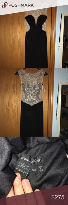 prom dress Size 5/6 (goes approximately by your jean size), no alterations. worn once and in perfect condition. selling $275 originally bought for $500 willing to negotiate dave and johnny Dresses Prom