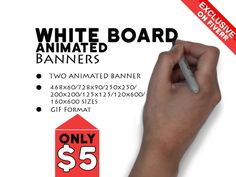 make two animated whiteboard banner by iks911