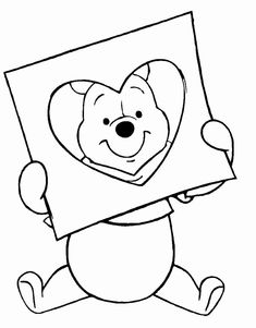 winnie the pooh and the pillow coloring page
