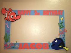 Photo Booth Frame to Take Pictures Birthday Finding Nemo | eBay