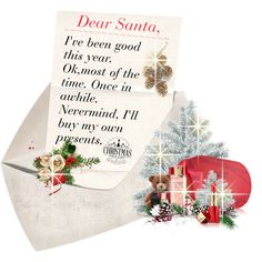 Dear Santa........ by mlka on Polyvore featuring art