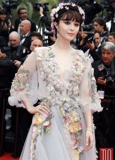 Fan Bingbing in a Marchesa gown
