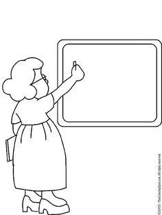 okul öncesi meslekler boyama sayfası öğretmen