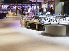 Bodenfliesen für Gewerbebereiche | Feinsteinzeug im Objektbereich | Topgres Referenzen: Rewe Hamburg Bio Food, Mall, Flooring Tiles, Hamburg, Template