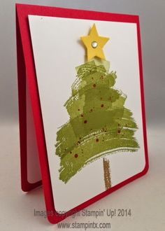 Christmas card using Stampin' Up Work of Art set