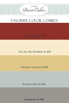 Paint colors - Love these!
