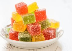 Fruit jelly bonbons in the bowl,selective focus Candy Recipes, Sweet Recipes, Jacque Pepin, Romanian Food, Sweet Tarts, Eat Dessert First, Cooking With Kids, Kids Meals, Food To Make