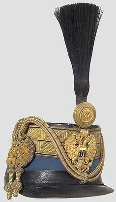 Tschako für einen Rittmeister des 10.Husarenregiments.