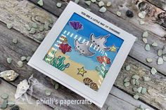 heffy doodle underwater card «you are a little ray of sunshine Underwater, Cardmaking, Friendship, Sunshine, Doodles, Greeting Cards, Paper Crafts, Art, Making Cards