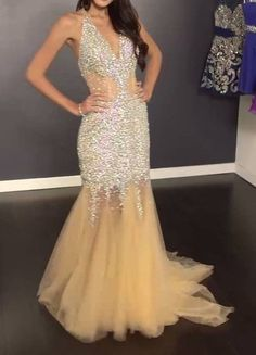 JOVANI 89650 Prom Dress, Sizes 0,2,4, Nude/Silver, NEW ships in 4-5 days