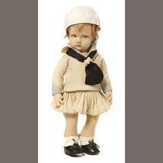 A Lenci felt sailor girl doll