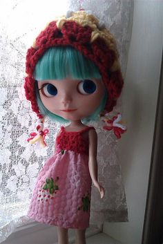 Blythe Kitty Pixie Hat by Lisa Singer