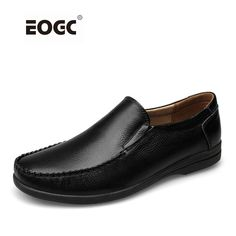 Handmade Genuine Leather Men Flats Shoes, Fashion Business Men Loafers Moccasins Casual Driving Shoes zapatillas hombre