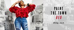Shop Ashley Stewart for plus size LA LA Anthony x Ashley Stewart clothing, plus size LA LA Anthony activewear + logo shorts + matching 2 piece set + mesh. Plus Size Peplum, Plus Size Kimono, Plus Size Tank Tops, Plus Size Dresses, Plus Size Outfits, Strapless Tops, Red Shop, African Traditional Dresses, Drape Cardigan
