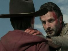 Still of Andrew Lincoln and Chandler Riggs in The Walking Dead (2010)