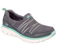 Sporty style and blissful comfort makes you the star in the SKECHERS Synergy - Scene Stealer shoe.  Soft woven fabric and smooth faux leather upper in a slip on athletic sporty comfort walking sneaker with stitching accents, stretch front and Memory Foam insole.