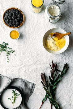 Roasted Blackberry + Thyme Ice Cream with a Cornmeal Crumble | Faring Well / Wholesome Foodie <3