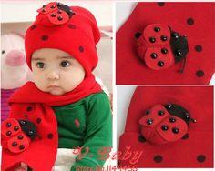 toddler girls scarves shopping | Hot-Sale-Baby-Boys-Girls-Cartoon-ladybug-hats-Red-Navy-Kids-scarf ...