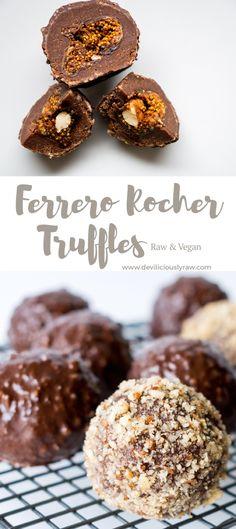 #raw #vegan Ferrero Rocher Truffles from Deviliciously Raw