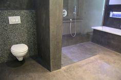 mortex salle de bain en beton douche