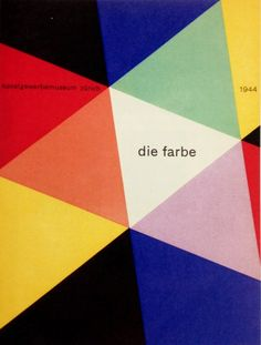 Max Bill, die farbe, cover for the Zurich Kunstgewerbemuseum, 1944