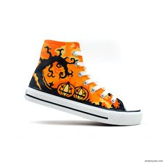 e4b718fa9fae Halloween Theme Hand Painted High-top Shoes