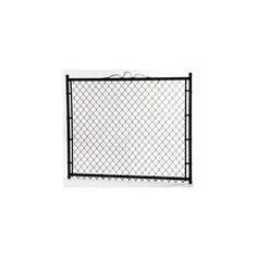 5-ft x 4-ft Black Galvanized Steel Chain-Link Walk Gate