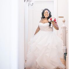 This strapless plus size wedding gown has a slight empoire waist.    Brides searching for #weddingdresses that are flattering to a fuller figure will love this cut.  We are located near Dallas Texas and specialize in providing custom #plussizeweddingdresses to women all over the globe.  We also make very close #replicas of haute couture designs for less.  Find out how we work with long disance brides and get pricing when you contact us at www.DariusCordell.com