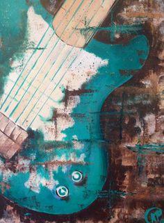 """""""Jade Guitar"""" acrylic on canvas 24""""x36"""" creationsbykp.com"""