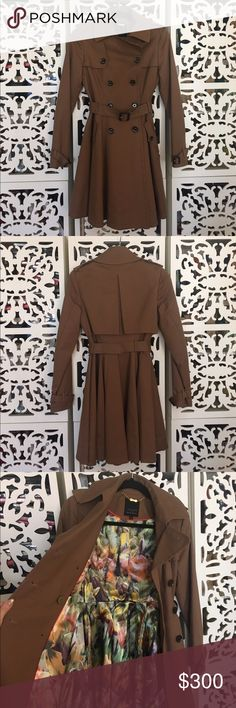 Ted Baker Trench Coat Worn once. In perfect condition. Ted Baker London Jackets & Coats Trench Coats