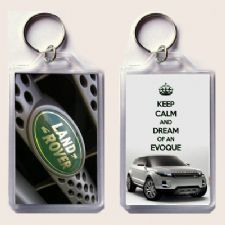 KEEP CALM and DREAM of AN EVOQUE keyring printed on an image of a 2013 Range Rover Evoque on one side and the iconic Land Rover badge on the other Christmas Stocking Fillers, Range Rover Evoque, Some Cards, High Gloss, Keep Calm, Badge, Birthday Gifts, Unique Gifts, Personalized Items