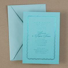 Trellis Wedding Invitation - Lagoon Shimmer  |  40% OFF  |  http://mediaplus.carlsoncraft.com/Wedding/Wedding-Invitations/WA-WA30944FLLAG-Trellis--Invitation--Lagoon-Shimmer.pro?pvc=&qty=0
