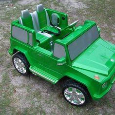 Pimped out Power Wheels Power Wheels Jeep, Fun Food, Projects For Kids, Grandchildren, Games, Toys, Activity Toys, Funny Food, Kids Service Projects