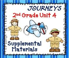 Journeys 2nd Grade - This bundle contains a variety of activities from each lesson of unit 4 to teach, re-teach, practice or assess the various lessons taught. $