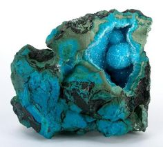 Quartz on Chrysocolla from Arizona Turquoise gemstone