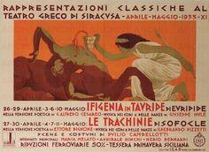 """Duilio Cambellotti Teatro Greco di Siracusa """"Ifigenia in Tauride"""" di Euripide """"Le Tranchinie"""" di Sofocle, 1933"""