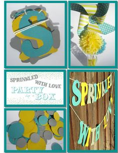 Sprinkled with Love - Party in a Box (Handmade Decorations for Baby Shower) on Etsy, $53.00