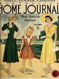 The Vintage Pattern Files: Australian Home Journal 1st October 1951