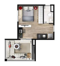 apartamento de 1 dormitório - 31m²