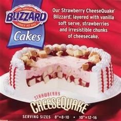 Dairy Queen Blizzard Cakes - Bing Images