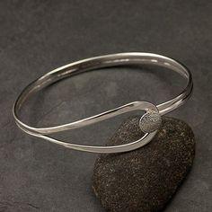 Silver Bracelet - http://www.etsy.com/listing/96619660/modern-sterling-silver-bracelet-sterling #SterlingSilverCuff