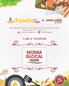 Meet the Vendors!  Momia Glocal Foods  @momiaglocal  What to expect to see from Momia  Packaged local snacks : Donkwa kuli-kuli (groundnut snaps) coconut balls groundnut meshed coconut ball  kokoro (maize crunch) and for drinks some Zobo and Kunu  #FoodieinLagosFair #TheLagosHomeShow #FoodFair