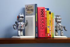 This Build On Brick LEGO Bookends Will Complete Any Home Library