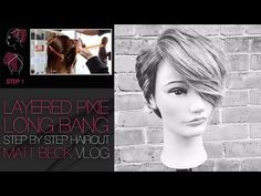 HOW TO CUT A PIXIE HAIRCUT WITH A LONG LAYERED BANG | MATT BECK VLOG #017 - YouTube