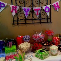 Amazing candy bar at baby shower today! Went home with a takeout box of candy!