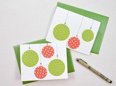 If you have some plain paper and washi tape in your stash, make a Christmas card - it's so easy and only takes a few minutes!