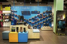 Dunns store by TDC and Co Johannesburg South Africa Dunns store by TDC&Co. Visual Merchandising, Breeze Block Wall, Focal Wall, Retail Concepts, Retail Windows, Retail Store Design, Store Fixtures, Branding, Design Furniture