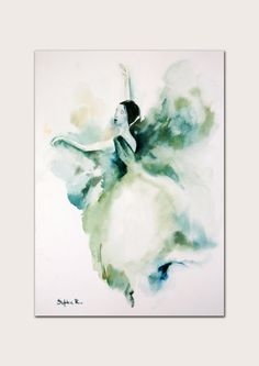 Hey, I found this really awesome Etsy listing at https://www.etsy.com/listing/156420354/ballerina-original-watercolor-painting