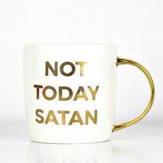 Not today satan mug, Christian home decor, Christian Mugs, Christian gifts, dosesofgrace